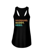 Husband Daddy Hero Ladies Flowy Tank thumbnail