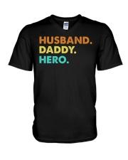 Husband Daddy Hero V-Neck T-Shirt thumbnail