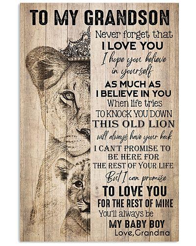 TO MY GRANDSON - LIONS - LOVE GRANDMA