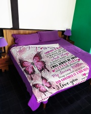 "To My Mom - Butterfly - Fleece Blanket Large Fleece Blanket - 60"" x 80"" aos-coral-fleece-blanket-60x80-lifestyle-front-01"
