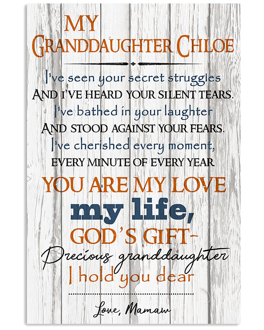 TO MY GRANDDAUGHTER  16x24 Poster