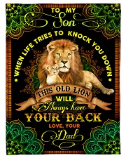 """To Son - Lions - When Life Tries To Knock You Down Small Fleece Blanket - 30"""" x 40"""" front"""