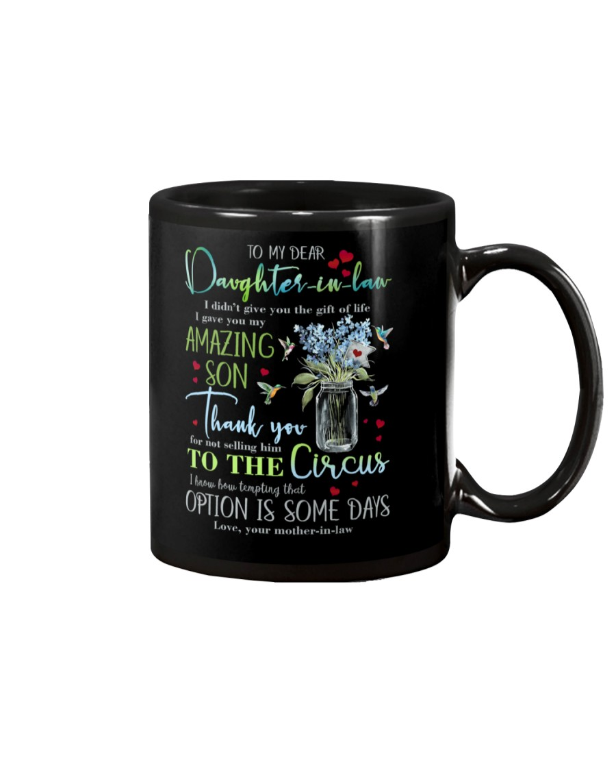 TO MY DAUGHTER-IN-LAW - HUMMINGBIRD - CIRCUS Mug
