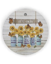 It's Okay To Makes Mistakes - Sunflower  Circle ornament - single (wood) thumbnail