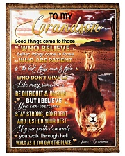 """Grandma to Grandson - Stay Strong Confident Small Fleece Blanket - 30"""" x 40"""" front"""
