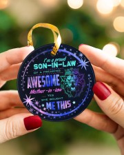 I'm A Proud Son-in-law of A Freaking Awesome  Circle ornament - single (porcelain) aos-circle-ornament-single-porcelain-lifestyles-08
