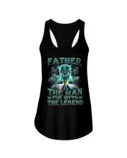 Father The man The myth The legend Ladies Flowy Tank tile