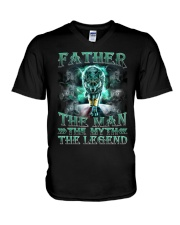 Father The man The myth The legend V-Neck T-Shirt thumbnail