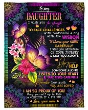 To My Daughter - Butterflies - I Wish You  Fleece Blanket tile