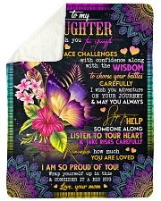 "To My Daughter - Butterflies - I Wish You  Large Sherpa Fleece Blanket - 60"" x 80"" thumbnail"