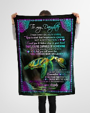 "To Daughter - I Hope Every Day You're Smiling  Small Fleece Blanket - 30"" x 40"" aos-coral-fleece-blanket-30x40-lifestyle-front-14"
