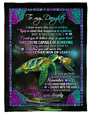 "To Daughter - I Hope Every Day You're Smiling  Small Fleece Blanket - 30"" x 40"" front"