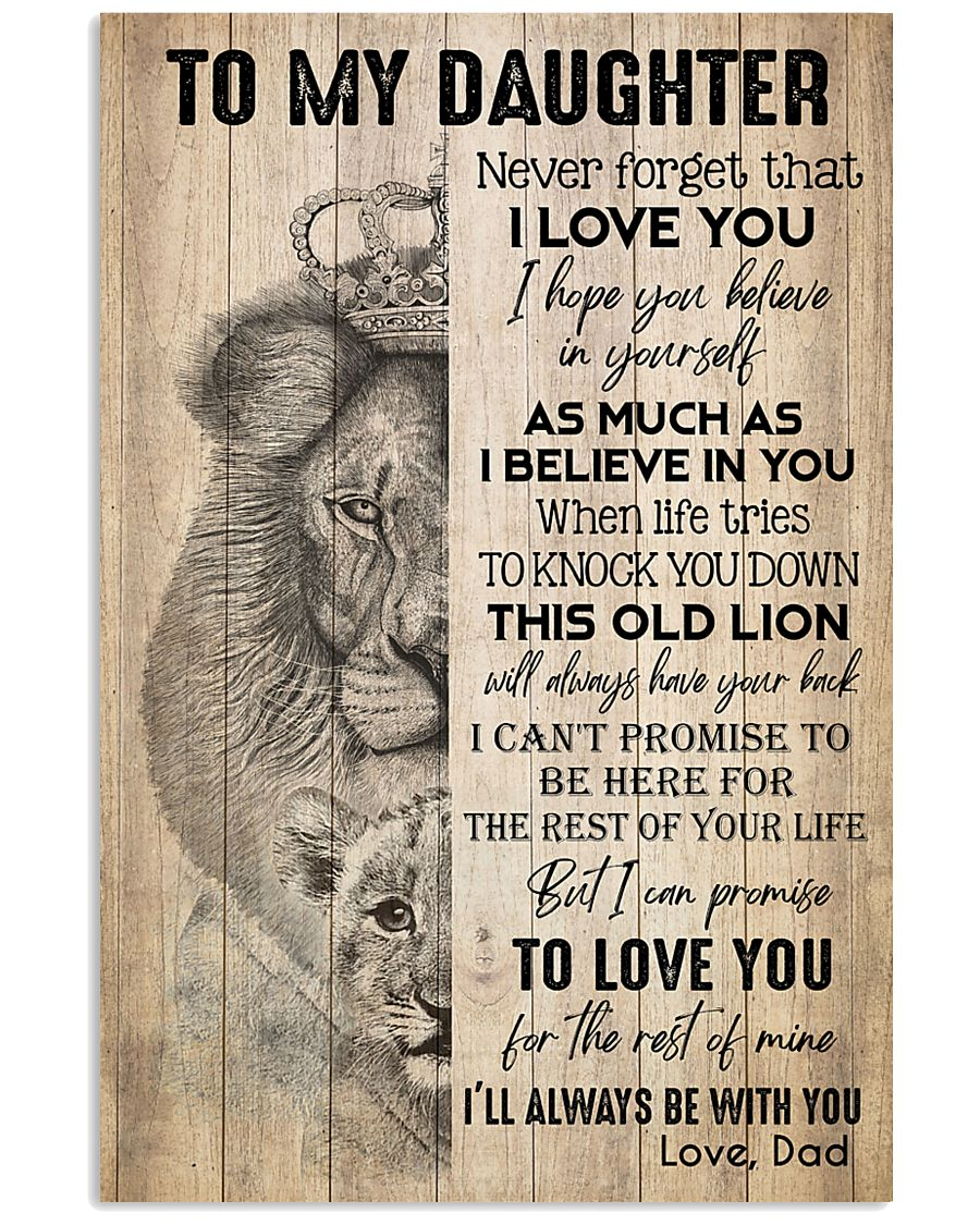 TO DAUGHTER - LION - BE WITH YOU 16x24 Poster