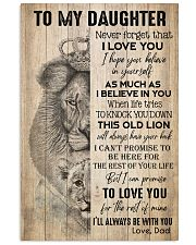 TO DAUGHTER - LION - BE WITH YOU 16x24 Poster front