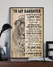 TO DAUGHTER - LION - BE WITH YOU 16x24 Poster lifestyle-poster-2