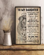TO DAUGHTER - LION - BE WITH YOU 16x24 Poster lifestyle-poster-3