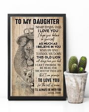 TO DAUGHTER - LION - BE WITH YOU 16x24 Poster lifestyle-poster-8