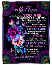 To My Mom - Fleece Blanket Fleece Blanket tile