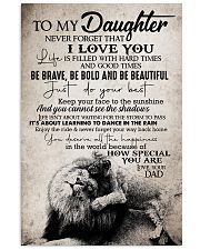 To Daughter - Life Is Filled With Hard Times 16x24 Poster front