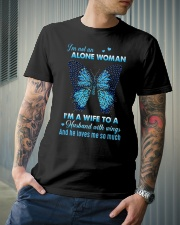 MY ANGEL HUSBAND - BUTTERFLY - MISS YOU Classic T-Shirt lifestyle-mens-crewneck-front-6