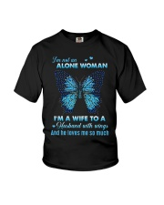 MY ANGEL HUSBAND - BUTTERFLY - MISS YOU Youth T-Shirt thumbnail
