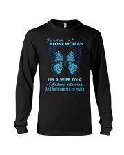 MY ANGEL HUSBAND - BUTTERFLY - MISS YOU Long Sleeve Tee thumbnail