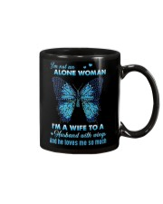 MY ANGEL HUSBAND - BUTTERFLY - MISS YOU Mug tile