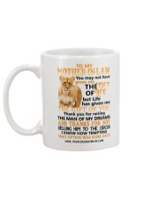 TO MY MOTHER-IN-LAW - LIONESS - CIRCUS Mug back