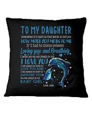 MOM TO DAUGHTER Square Pillowcase thumbnail