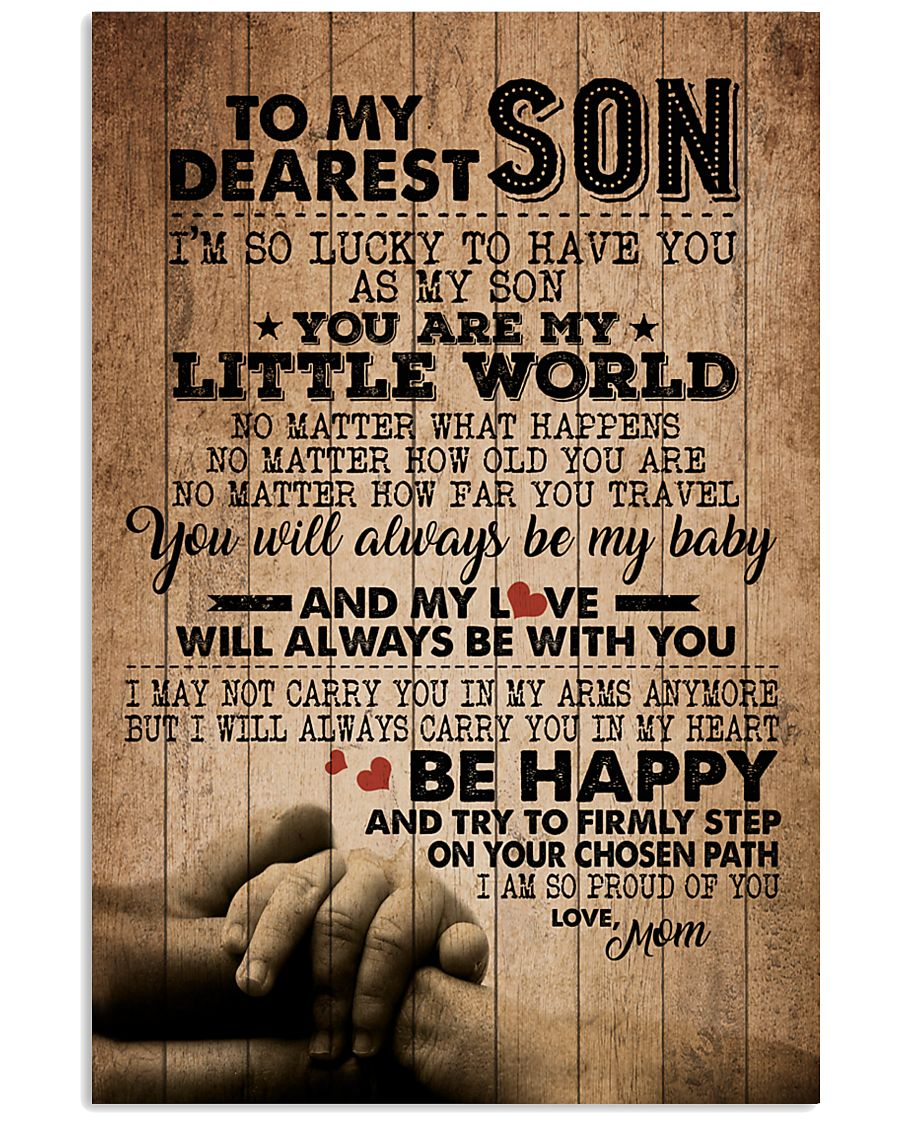 TO MY DEAREST SON 16x24 Poster