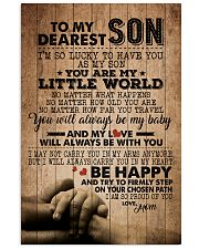 TO MY DEAREST SON 16x24 Poster front