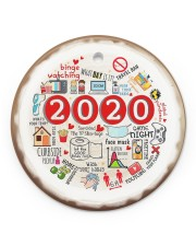 Christmas - 2020  Circle ornament - single (porcelain) front