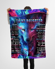 "Dad To Daughter - Never Feel That You Are Alone  Small Fleece Blanket - 30"" x 40"" aos-coral-fleece-blanket-30x40-lifestyle-front-14"