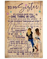TO MY SISTER 16x24 Poster front