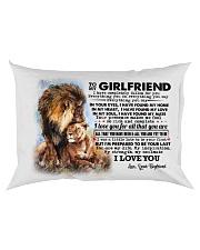 TO MY GIRLFRIEND Rectangular Pillowcase back