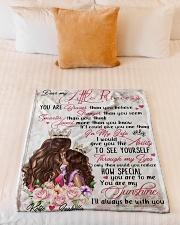 """Gift For Daughter - Dear My Little Princess Small Fleece Blanket - 30"""" x 40"""" aos-coral-fleece-blanket-30x40-lifestyle-front-04"""