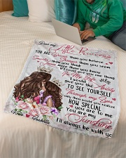 """Gift For Daughter - Dear My Little Princess Small Fleece Blanket - 30"""" x 40"""" aos-coral-fleece-blanket-30x40-lifestyle-front-07"""