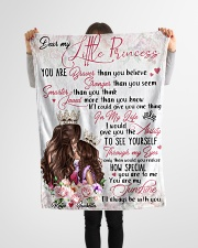 """Gift For Daughter - Dear My Little Princess Small Fleece Blanket - 30"""" x 40"""" aos-coral-fleece-blanket-30x40-lifestyle-front-14"""
