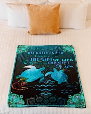 """To My Daughter-in-law - Turtle - Gift Of Life  Small Fleece Blanket - 30"""" x 40"""" aos-coral-fleece-blanket-30x40-lifestyle-front-04"""