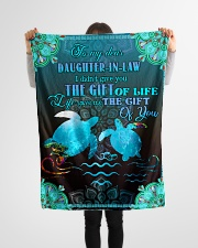 """To My Daughter-in-law - Turtle - Gift Of Life  Small Fleece Blanket - 30"""" x 40"""" aos-coral-fleece-blanket-30x40-lifestyle-front-14"""