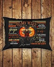 TO MY WIFE - FOX - I LOVE YOU Rectangular Pillowcase aos-pillow-rectangle-front-lifestyle-2