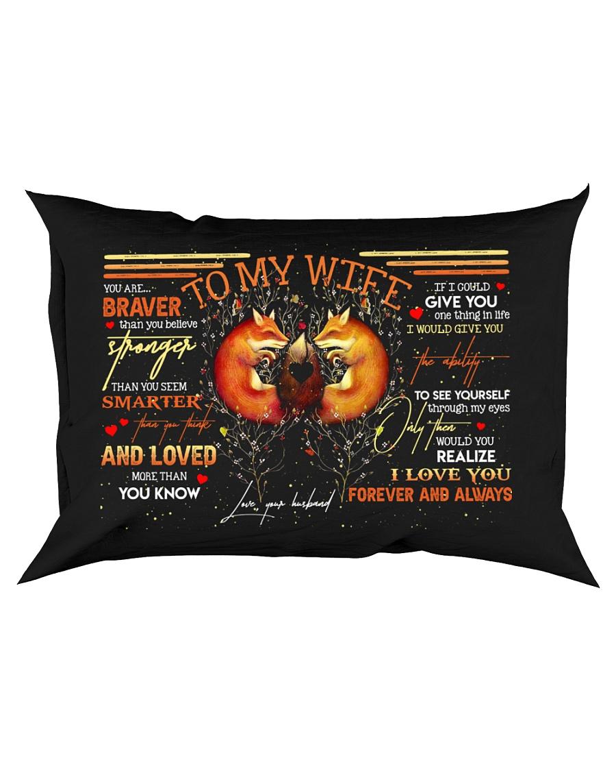 TO MY WIFE - FOX - I LOVE YOU Rectangular Pillowcase