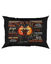 TO MY WIFE - FOX - I LOVE YOU Rectangular Pillowcase front