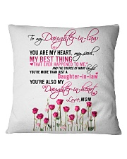 MOM TO DAUGHTER IN LAW Square Pillowcase thumbnail