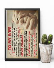 TO MY WIFE - HAND IN HAND - I LOVE YOU 16x24 Poster lifestyle-poster-8