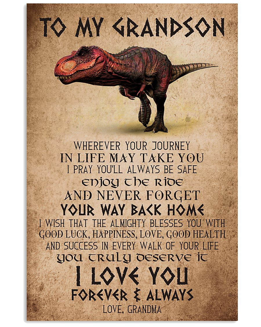 TO MY GRANDSON - T REX - ALMIGHTY 16x24 Poster