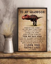 TO MY GRANDSON - T REX - ALMIGHTY 16x24 Poster lifestyle-poster-3