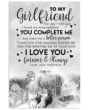 TO MY GIRLFRIEND - DEER - THE DAY I MET YOU 16x24 Poster front