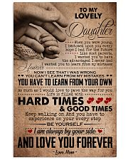 TO MY LOVELY DAUGHTER 16x24 Poster front