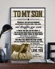 To My Son - Lions - Whenever You Feel Overwhelmed 16x24 Poster lifestyle-poster-2